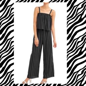 Other - Black White Stripe Woven Jumpsuit